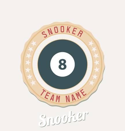 Snooker team emblem  Ilustração