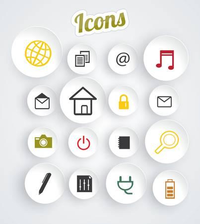 Modern web icons set