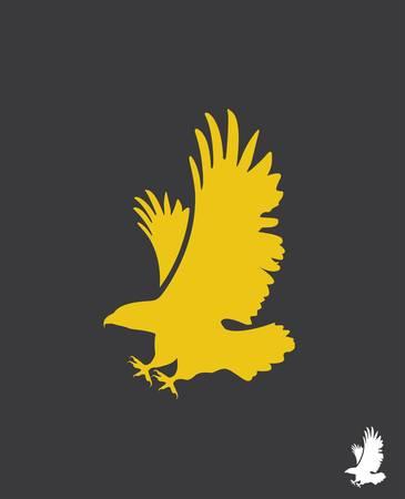 silhouette aquila: Aquila, vettore Vettoriali