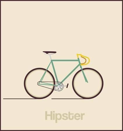 bicycle race: Hipsters bicycle