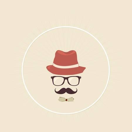 snobby: Hipster uomo Vettoriali