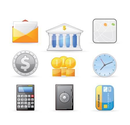 Banking and Finance icon set  Ilustração