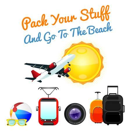 Travel icons symbol collection.illustration
