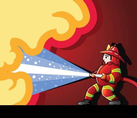 消防士の戦いの火