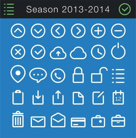 Modern Thin Icons Set - 30 icons  Ilustração