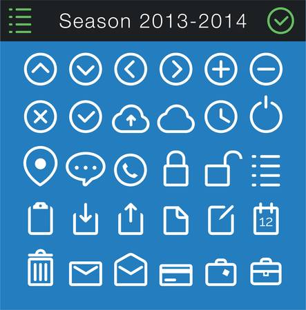 Modern Thin Icons Set - 30 icons Imagens - 22008106