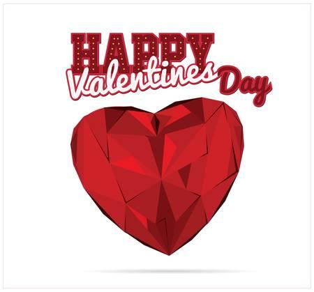 Valentines diamond heart  Ilustração