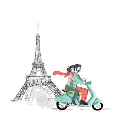Love in Paris  Love in Paris  Vector