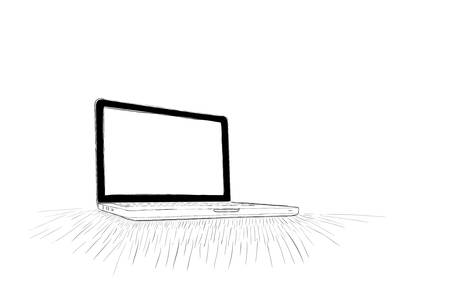 Hand-drawn, computer doodle