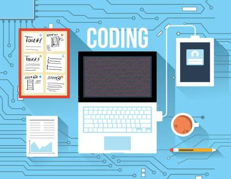 software development: Coding concept