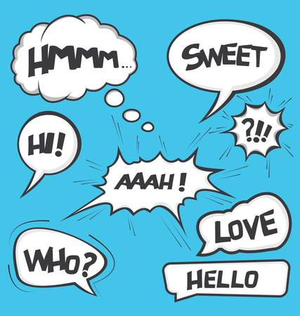 A collection of comic style speech bubbles Imagens - 36815376