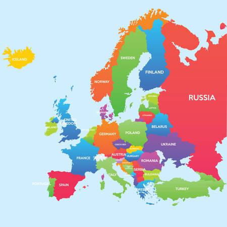 Mapa del mundo-países Foto de archivo - 36815433