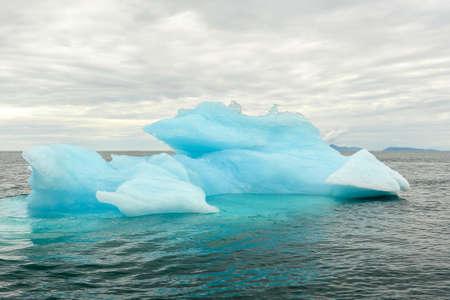 cold blue glacier bay alaska Stock Photo