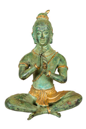 buddhismus: buddha sculpture isolated on white