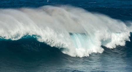 big waves: big waves jaws maui hawaii Stock Photo