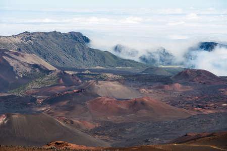 kauai: Haleakala crater hawaii kauai Stock Photo