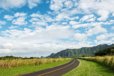 kauai: alternate road to kauai hawaii kapaa Stock Photo