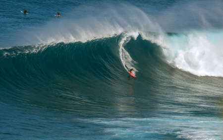 jaws: unknown surfers at jaws maui hawaii december 2014 Editorial