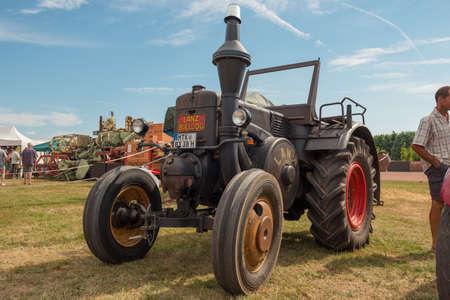 restauration: DIEDENBERGEN, HESSEN, GERMANY - AUGUST 4, 2013: meeting of historic vehicles