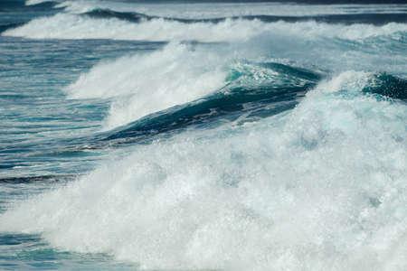 maui: waves at hookipa beach maui hawaii Stock Photo