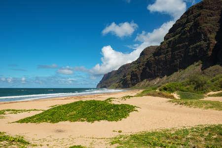 kauai: barking sands beach kauai hawaii Stock Photo