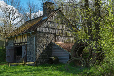 hessen: historic mill of a historic village in hessen germany