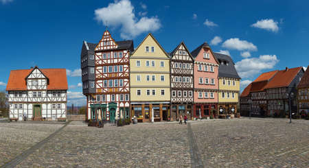 hessen: OBERURSEL, HESSEN, GERMANY-APRIL 18, 2016: Panorama Marketplace Hessenpark