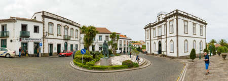 market place: NORDESTE, SAO MIGUEL, AZORES-MAY 3, 2016: Panorama of the market place Editorial