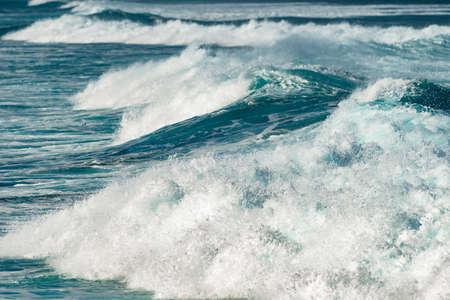 waves at hookipa beach maui hawaii 写真素材