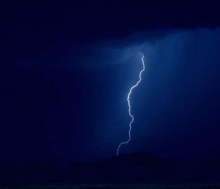 Desert lightning Banco de Imagens