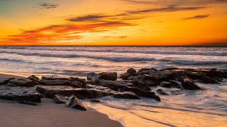 Pre-dawn on the beach at Marine St, Beach Haven, NJ Banque d'images
