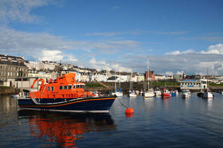 northern ireland: Rescue Lifeboat in Portrush harbour Northern Ireland