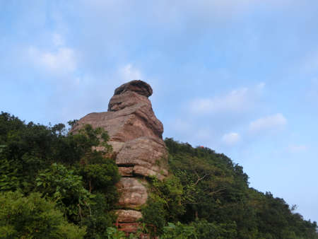 laevis: rock top on the mountain