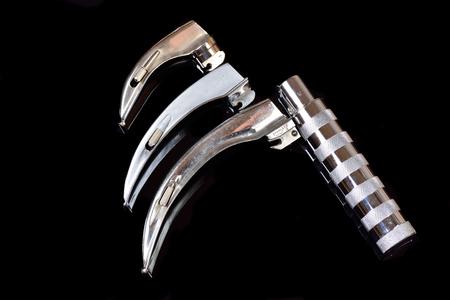 macintosh: Laryngoscope handle with Macintosh blades Stock Photo