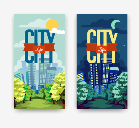 day and night: cityscape  Day & Night