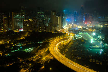 hong kong island: Hong Kong island, Victoria Park, Harbour night view