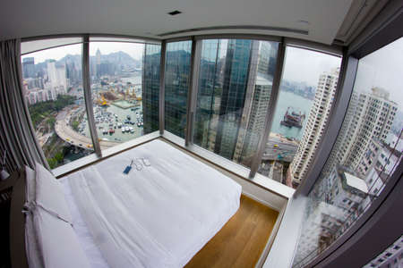 twenty one: Twenty One Whitfield 270 degree view service apartment of Tin Hau, Hong Kong Editorial