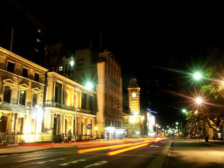 nightview: Tasmania Nightview Australia Stock Photo