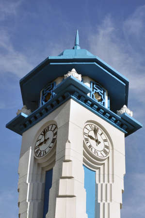 shah: shah alam clock tower in selangor Stock Photo