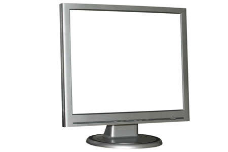 Isolated LCD monitor photo
