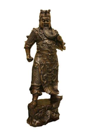 Statue of Chinese warrior photo