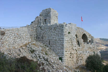 in the heights: Nimrod castle - Golan Heights, Israel