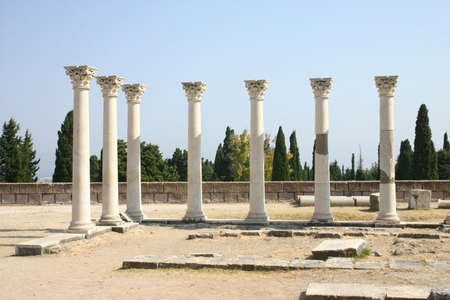 aesculapius: Asclepion, scuola medica Ippocrate (Kos, Grecia)