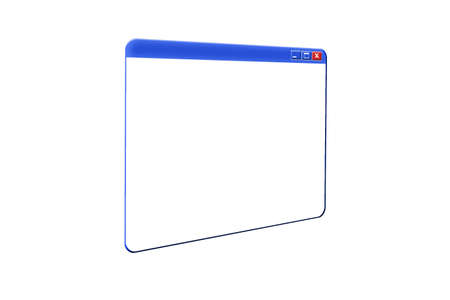 executable: Illustration of a 3D Window on white background