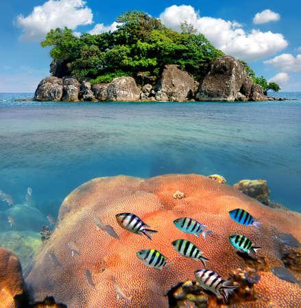 Tropical paradise, Siam Bay, Thailand Stock Photo