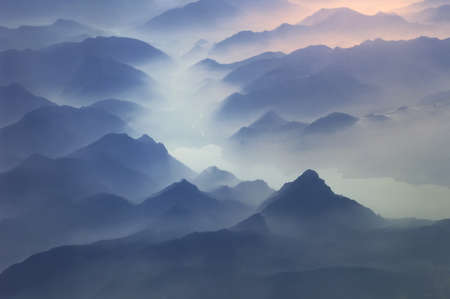 Tops of mountains, Alps