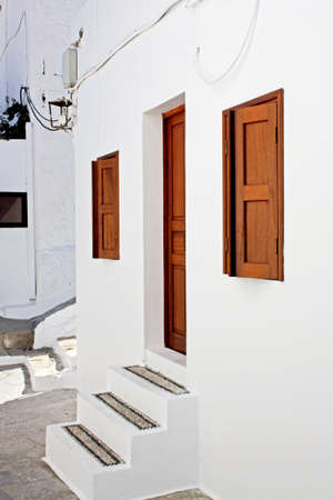 Whiteness of the Greek towns (Lindos, Greece)