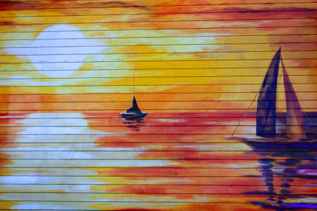 Street Wall Painting Editorial
