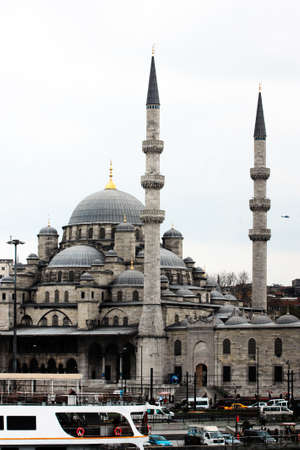 One of the numerous mosques as landmarks of Istanbul, Turkey