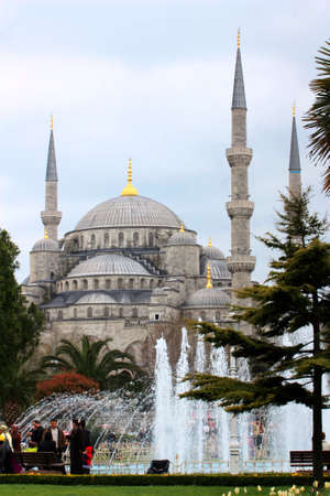 Blue mosque of Istanbul as a landmark of the city Editorial